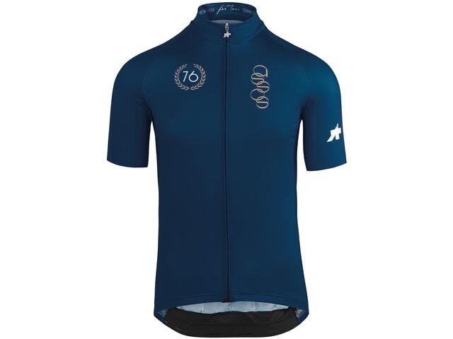 assos FORTONI - Maillot manches courtes Homme - bleu/noir